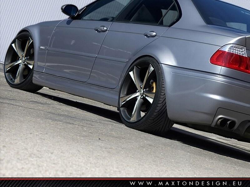 Dokładki Progów BMW 3 E46 4D Saloon < M3 Look > - GRUBYGARAGE - Sklep Tuningowy